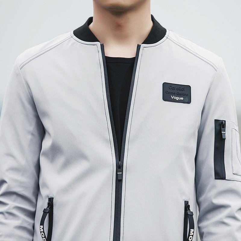 HCXY 2017 New Men Jacket Spring Autumn Fashion Brand Slim Fit Coats Male Baseball Bomber Jacket Mens Coat large size 5XL 4