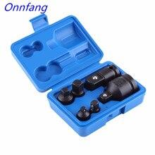 """Onnfang 6 قطعة/مجموعة محول القابس المخفض محول محرك وجع 1/4 """"1/2"""" 3/8 """"3/4"""" اسئلة قواطع أداة اليد مجموعة"""
