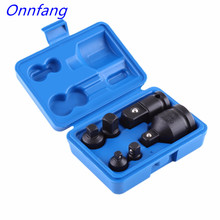 "Onnfang 6Pieces/set Socket Adaptor Reducer Adapter Drive Wrench 1/4"" 1/2"" 3/8"" 3/4"" Ratchet Breaker Hand Tool Set"