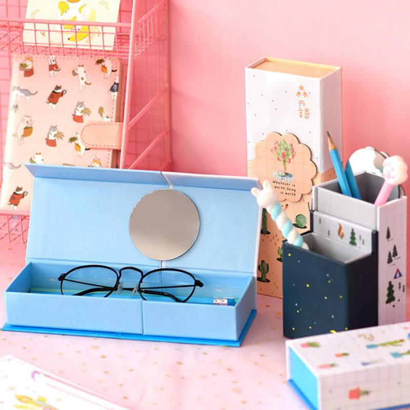 Multifunctional Pencil Case Deformation Box Transforms Pen Holder Creative School Supplies Brush Glasses