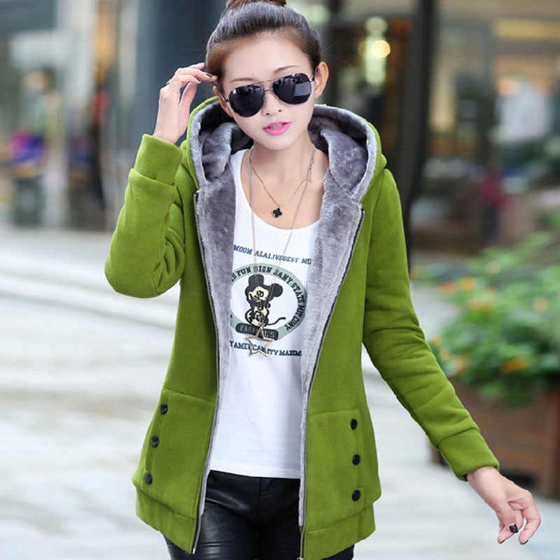 Warme Jacken Frauen Langarm Mit Kapuze Neck Zipper Plus Größe S-5XL Casual Weibliche Outwear Warme Jacke Sportswear Mantel