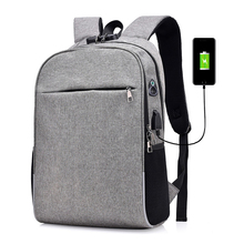 USB charging mens bags Password anti-theft backpack laptop bag  waterproof large capacity business casual