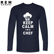 0c7d729e0 Keep Calm I'm a Chef - Cook Restaurant Kitchen FUNNY PRINTED MENS T-SHIRT  Gift TOP MEN'S CASUAL PRINTED Long sleeve T SHIRT