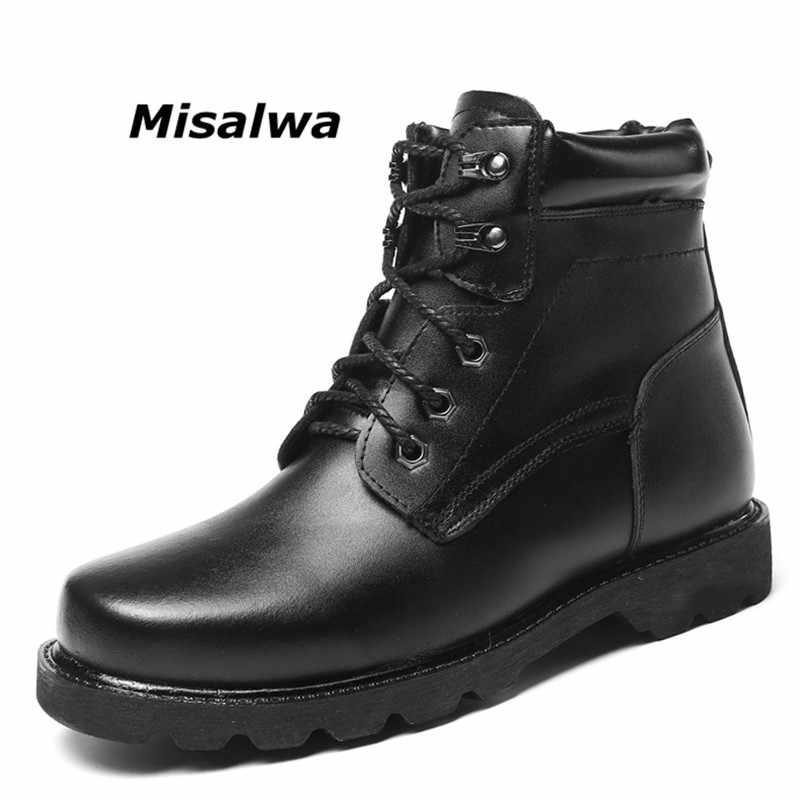 Misalwa большой размер 38-48 Для мужчин ботильоны рабочие ботинки теплые  удобные зимние мужские ботинки 72db3ac826a