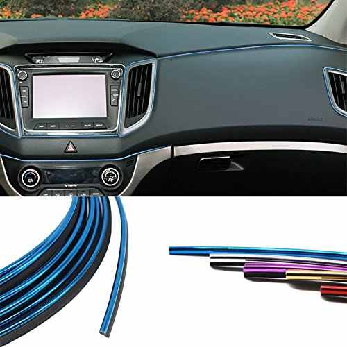 Car-Styling Interior Decoration Strips 5M Moulding Trim Dashboard Door Edge Universal For Cars Auto Accessories car styling