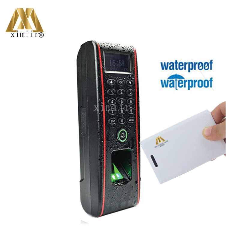 Biometric TF1700 IC Card Door Access Control And IP65 Waterproof  Fingerprint Access Control Communication RS485, TCP/IP,USB