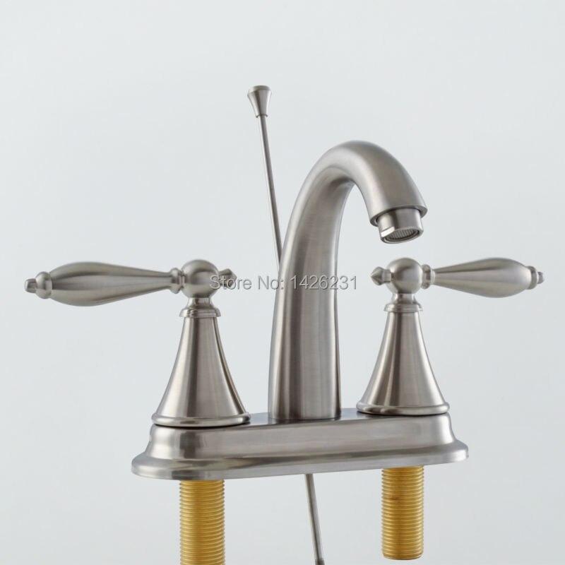 KES LEAD FREE Two Handle Bathroom Faucet Lavatory Vanity Sink Faucet ...
