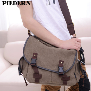 Canvas Men Messenger Bags Casual Vintage Travel Shoulder Bags for Male Fashion Beige/Black/Brown Men Crossbody Bag 1