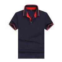 Дышащий Фирменная Новинка 2018 прибыл рубашки поло Рубашка с короткими рукавами Для мужчин классический дизайн сплошной Цвет S-3XL
