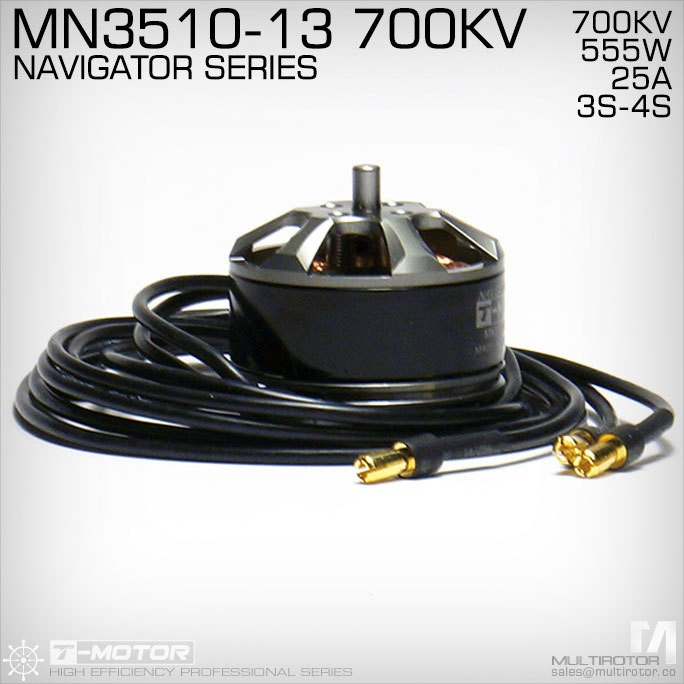 RC Model  Part T-MOTOR MN3510 KV700 Outrunner Brushless Motor for multirotor copter 4set lot universal rc quadcopter part kit 1045 propeller 1pair hp 30a brushless esc a2212 1000kv outrunner brushless motor