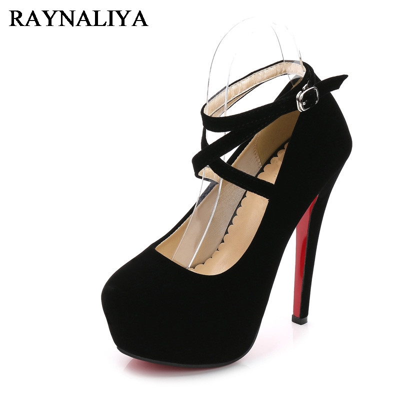 Stilettos Plus Size 35-46 14cm Thin High Heels Platform Wedding Shoes Woman Sexy Flock Round Toe Pumps Shoes WZ-B0026 baoyafang white and red womens wedding shoes bowknot bride high heels platform shoes round toe big size female shoes woman pumps