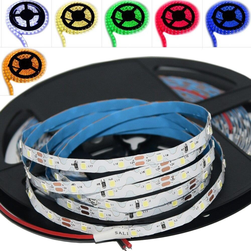 TXG 5m/roll 6mm 60leds/m DC12V SMD2835 Single Colors Free Bending S Shape LED Strip For Channel Letters Back Lightbox