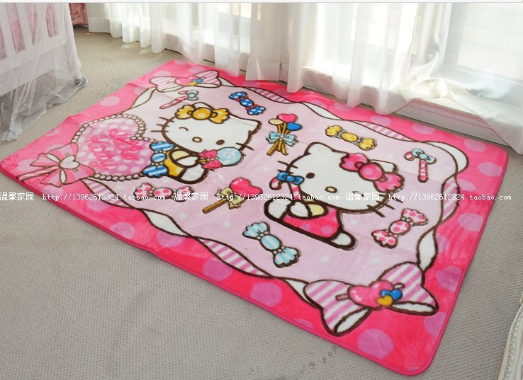 Good Online Shop 130*190cm Hello Kitty Cute Cartoon Game Blanket Bedroom, Living  Room Carpet Slip Matswashed Without Fading Rug | Aliexpress Mobile