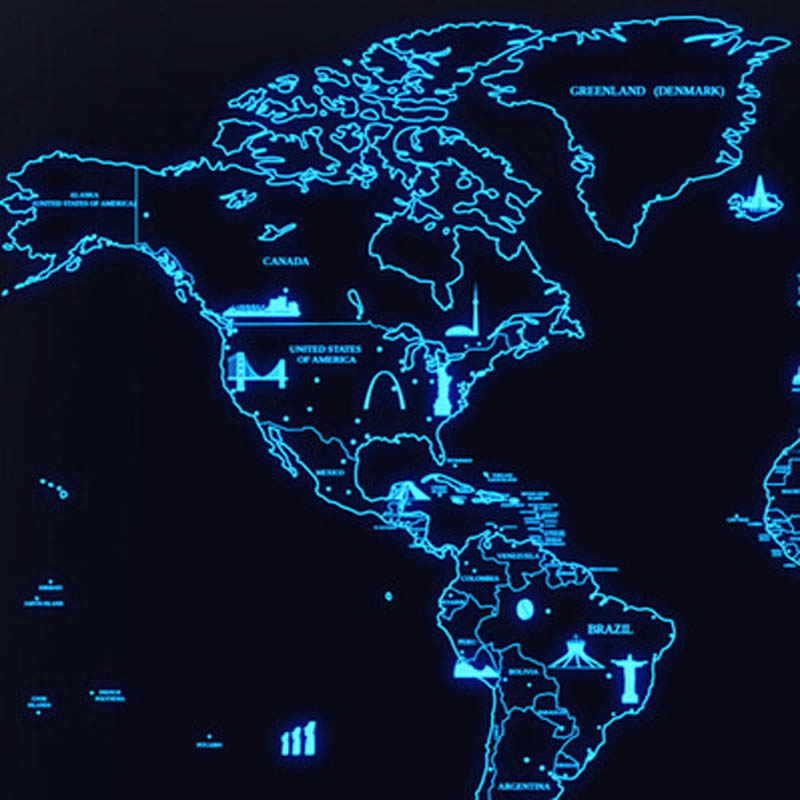 Luminous deluxe scratch off world map new luxury home decor world luminous deluxe scratch off world map new luxury home decor world map wallpaper wall stickers in wall stickers from home garden on aliexpress gumiabroncs Images