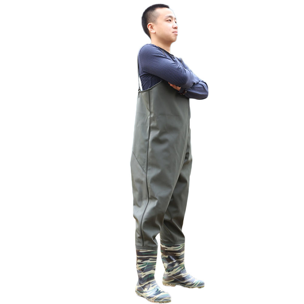 Men waterproof overalls water pants protective clothing fishing pants outdoor working sleeveless safety overalls with rain boots new men s work clothing reflective strip coveralls working overalls windproof road safety uniform workwear maritime clothing