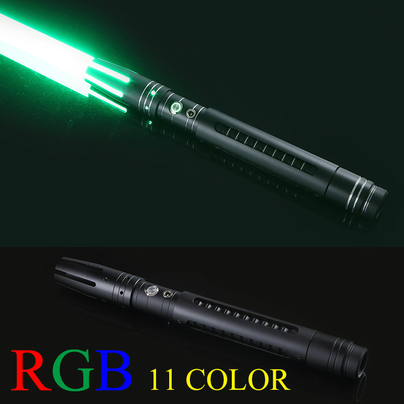 100cm 11 Color Lightsaber Metal Sword RGB Laser Cosplay Boy Gril Toy Flashing For Kids Gift