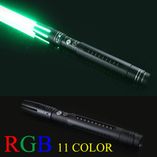 100 см 11 Цвет световой меч из металла меч RGB лазерный Косплэй мальчик игрушечный меч мигающий для детей подарок свет открытый творческий войны игрушки