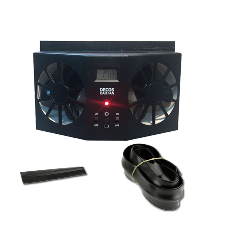 Car Fan Car Solar window Fan Portable Air Vent Cool Fan Cooler Ventilation System Radiator HIGH