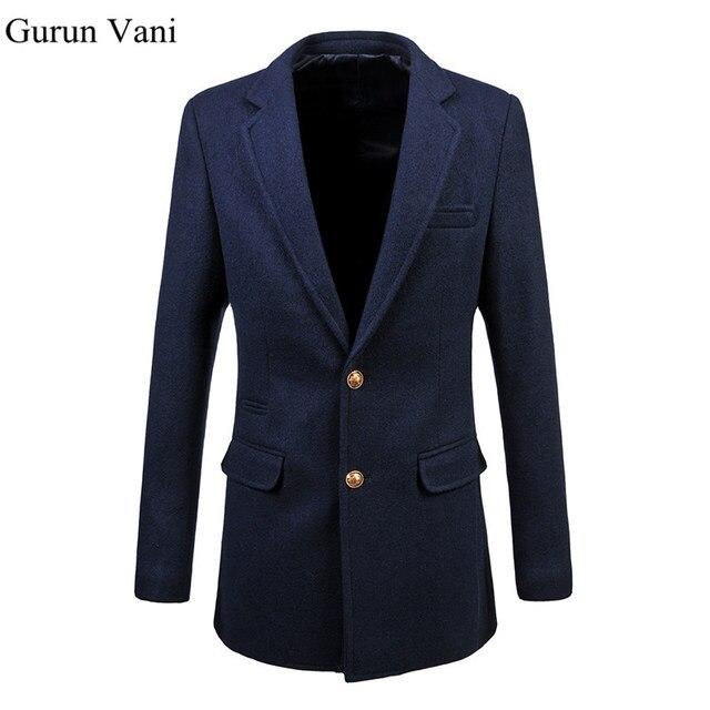 Hommes Marque Vêtements Hommes Robe Blazer De Mariage Robe Costume Veste  Épaisse Long Blazer Mince Veste 5336b5b6120