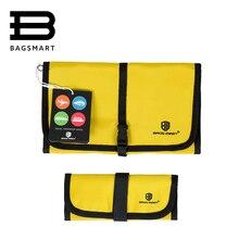 BAGSMART 2 Pcs Électronique Accessoires Organisateur Pour Écouteurs Téléphone Chargeur Câbles de Données USB Voyage Cas Mettre Dans Votre Sac À Main