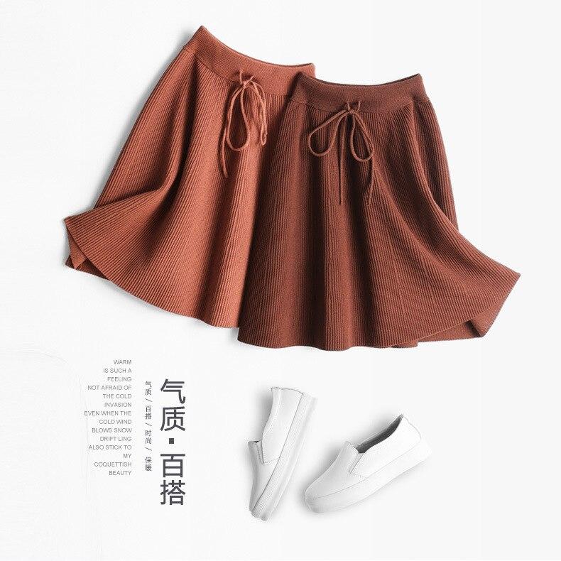 Spring And Autumn New Pattern Half-body Skirt Solid Color Joker High Yao Xianshou A Ice Hemp Short Hair