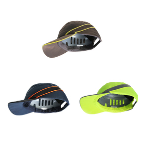 Image 5 - Moda güneş koruyucu kap iş emniyet kaskı nefes Anti darbe hafif inşaat kask kendini savunma silahları