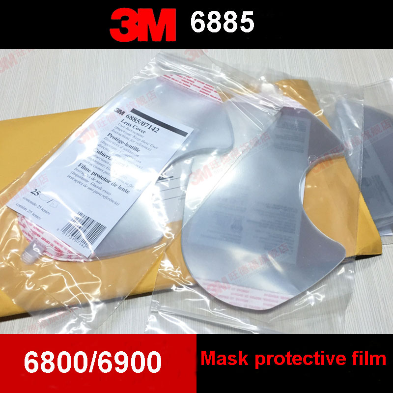 3M 6885 Respirator mask Mirror protective film Genuine security PC Material With 6800/6900 use protective film3M 6885 Respirator mask Mirror protective film Genuine security PC Material With 6800/6900 use protective film