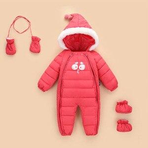 Image 3 - 2020 ファッション新しい女の赤ちゃん外出秋冬ジャケット子供ダウン綿garmet新生児暖かい快適なジャンプスーツ