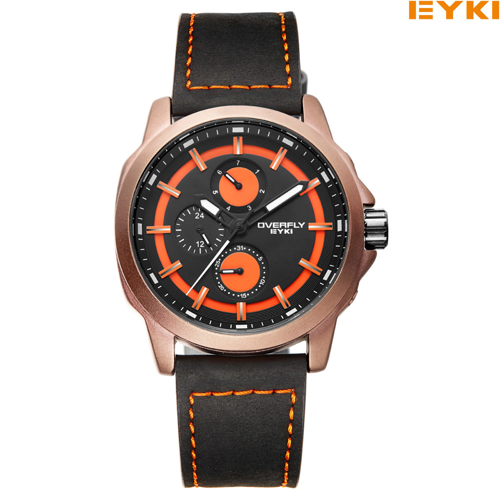 EYKI Luxury Men Watch Top Brand Fashion Casual Colorful Military Quartz Watches  Sport Waterproof Wristwatch Relogio Masculino liebig luxury brand sport men watch quartz fashion casual wristwatch military army leather band watches relogio masculino 1016
