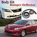 For TOYOTA Corolla Bumper Lip / Front Spoiler For Car Lip Friends to Car Tuning / TOPGEAR Body Kit / Strip Skirt