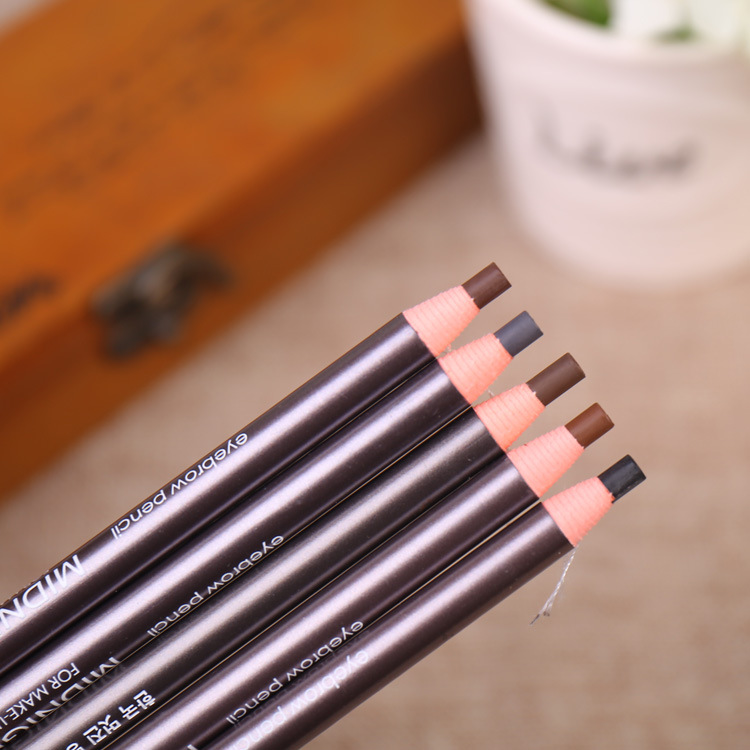 5 Colors Waterproof Cosmetic Eyebrow Pencils Dark Gray Black Brown Colored Soft DIY Makeup Set -30