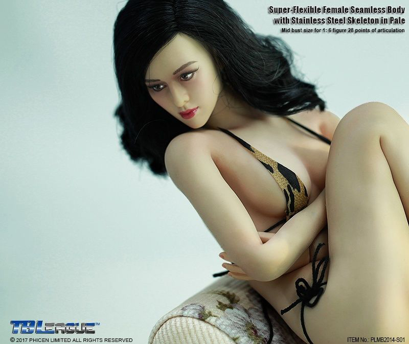 PH 1:6 TBLeague Phicen  Steel Skeleton Seamless Female Mid Body PLMB2014-S02