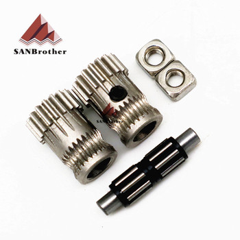 Drivegear kit dual drive gear extruder kit Cloned Btech upgrade for extruder for Prusa i3 3d printer gear Mini Bowden Extruder