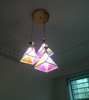 Italy Novelty Rainbow Pendant Lights For Dining Room 1 3 Head Hallway Kitchen Tiffany Light Hanging