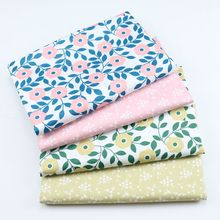 Small Floral Print Fabric Cotton Twill Fabric Patchwork Textile Cotton DIY Sewing Quilted Baby Home Pajamas Dress Cotton Fabric cheap touching care Woven Other Fabric 100 Cotton Printed Breathable Warp 160cm Brocade Fabric Printing and Dyeing Meter