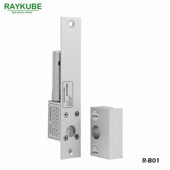 RAYKUBE rygiel elektryczny blokada Fail Safe Mode + szklany zacisk do drzwi na szkło biurowe system kontroli dostępu do drzwi R-B01 tanie i dobre opinie
