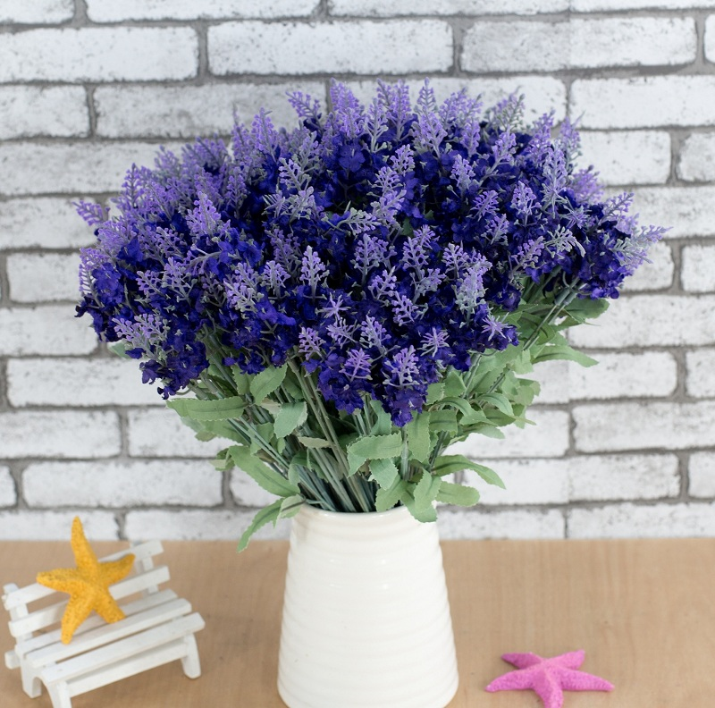 lavender artificial flower branch for birthday wedding party decoration craft diy favor baby shower etc wh