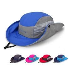 Панама шапки Открытый быстросохнущие пеший Туризм Рыбак складная шляпа кемпинг для мужчин женщин Safari солнцезащитный крем