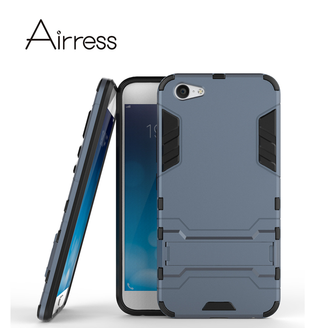 Airress TPU/PC 2in1 Armor Rugged Protective Kickstand Phone Case Cover Skin for Vivo X9 Plus