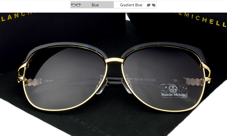 HTB1Iz9TiUl7MKJjSZFDq6yOEpXam - Blanche Michelle 2018 High Quality Square Polarized Sunglasses Women Brand Designer UV400 Sun Glasses Gradient Sunglass With Box