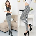 The quality of the east gate of the New South Korean spot genuine leisure fashion vertical striped Leggings wholesale