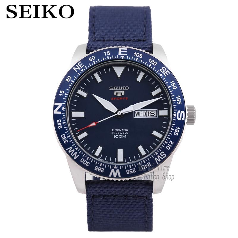 Reloj seiko para hombre 5 reloj automático de marca de lujo impermeable reloj de pulsera deportivo fecha relojes de hombre reloj de buceo reloj masculino SKX-in Relojes deportivos from Relojes de pulsera    1