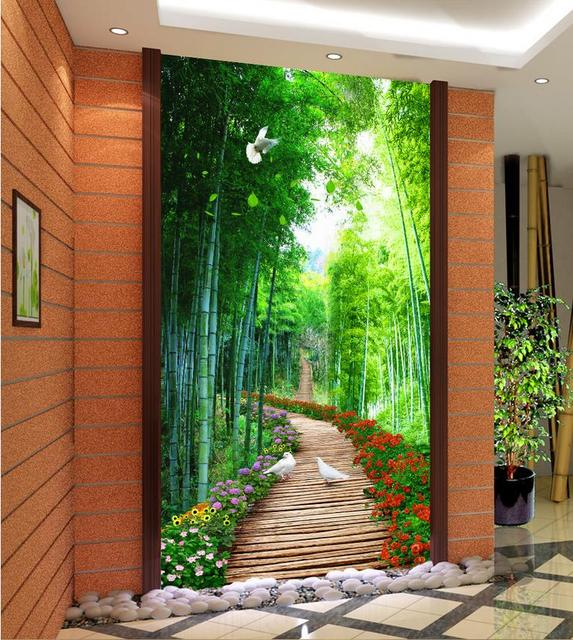 3d Nature Fonds D Ecran Bambou En Bois Pont Personnalise 3d Photo