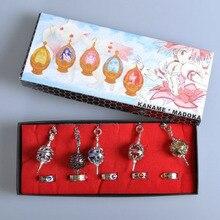Anime Puella Magi Madoka Magica Soul Gem 5x Rings 5x Crystal Ball Necklace Cosplay Prop Gift