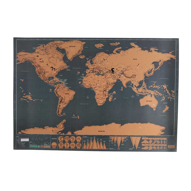 1pcs deluxe erase black world map scratch off world map 1pcs deluxe erase black world map scratch off world map personalized travel scratch for map stationary gumiabroncs Choice Image
