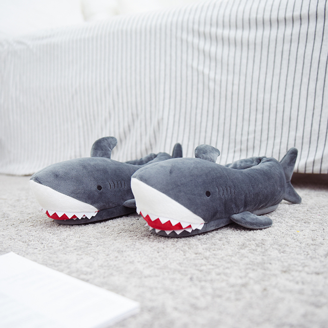 Millffy unisex Fuzzy Winter Slippers Animated Shark Plush Slippers Ultra Soft and Fuzzy Comfy Home Slippers slip on shoes 2