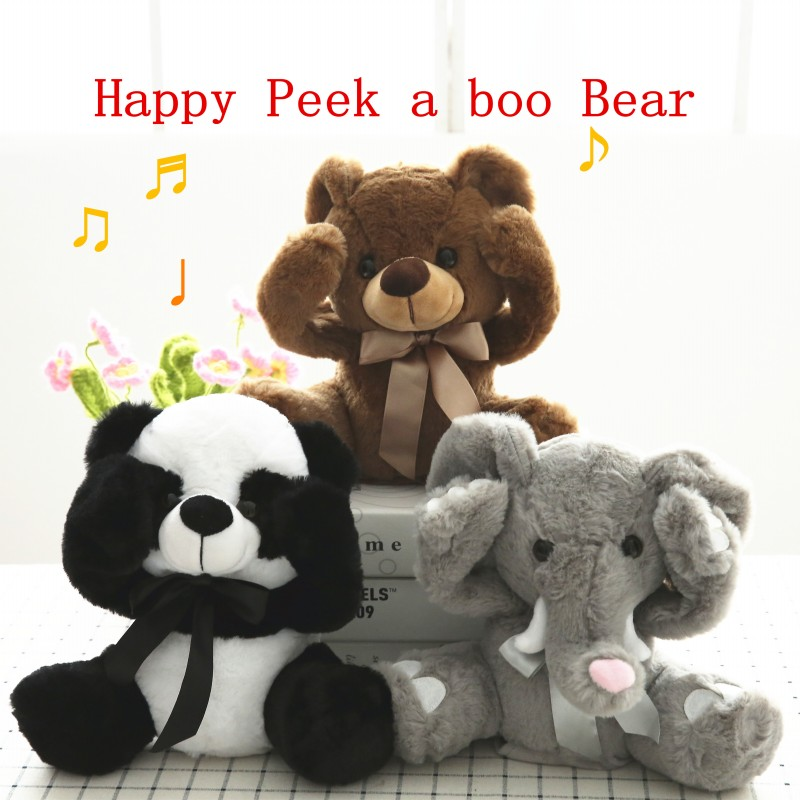 Peek-A-Boo Elephant Baby Plush Toy Bear Stuffed Cute Animals Kid Music Doll USA