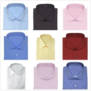 Image 2 - Col découpé à deux boutons, 100% coton, neuf couleurs, coupe cintrée de douanes, concevez votre propre chemise, offre spéciale