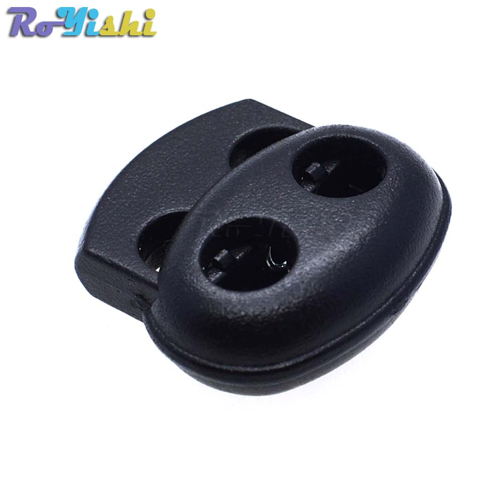 1000pcs pack Plastic Cord Lock Stopper Toggle Clip Black 17 5mm 19mm 5 6mm