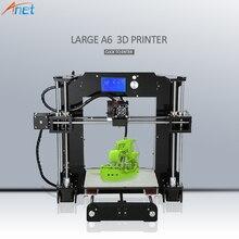 Новинка 2017 года! Анет E10 autolevel A8 A6 3D-принтеры широкоформатной печати Размеры Высокая точность RepRap i3 DIY 3D-принтеры комплект с нити